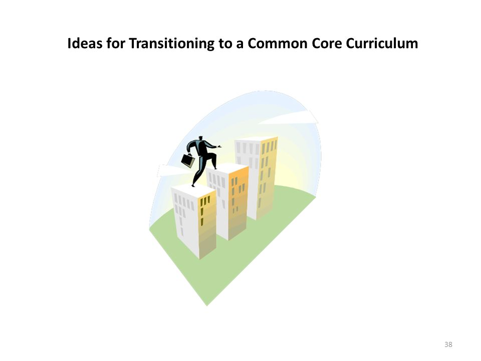Goals Ideas for Transitioning to a Common Core Curriculum 38