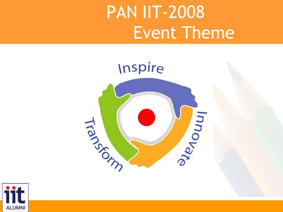 Inspire, Innovate, Transform PAN IIT-2008 Event Theme