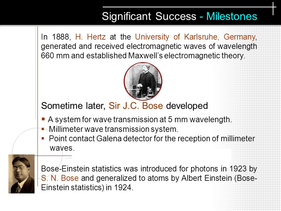 Significant Success - Milestones In 1888, H.