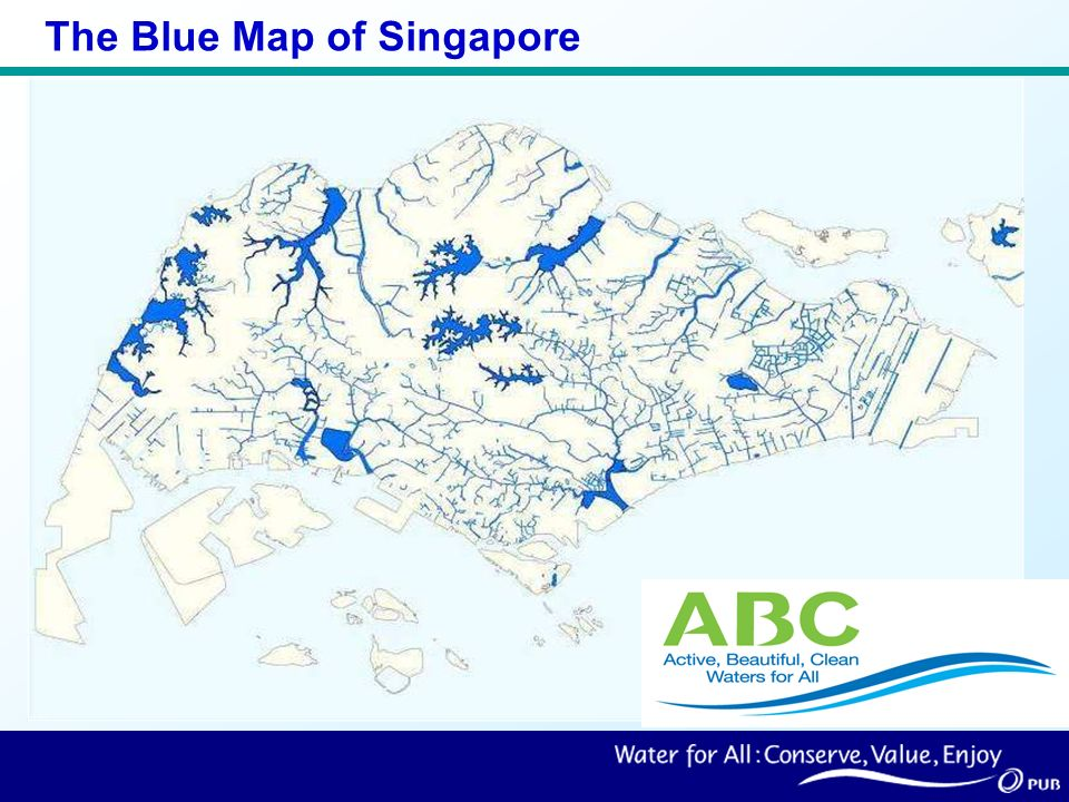 The Blue Map of Singapore