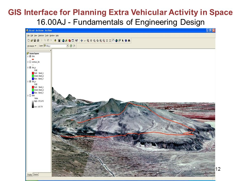 12 GIS Interface for Planning Extra Vehicular Activity in Space 16.00AJ - Fundamentals of Engineering Design