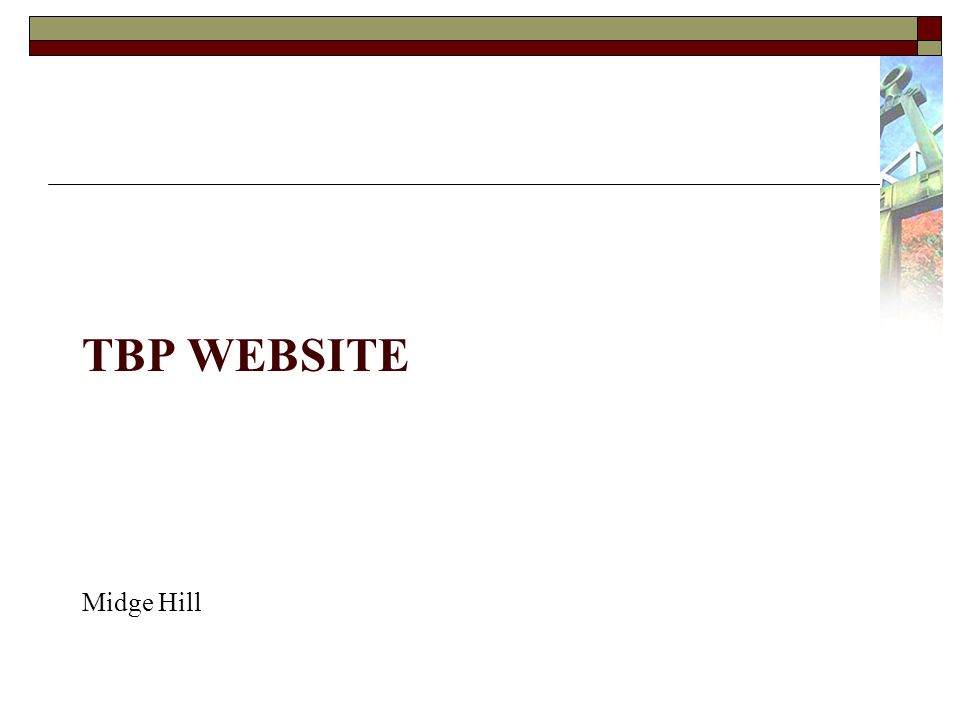TBP WEBSITE Midge Hill