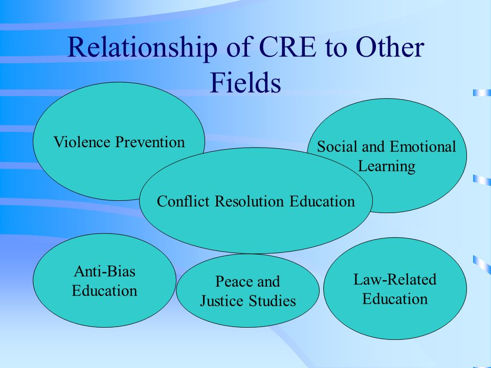 Violence Prevention VP is more limited in scope VP tends to focus more on systemic causes of violence than CRE VP emphasizes policy change while CRE emphasizes individual skill building and community education VP programs usually focus on structural and equipment interventions VP programs more linked with risk behaviors/ substance abuse, sexual activity