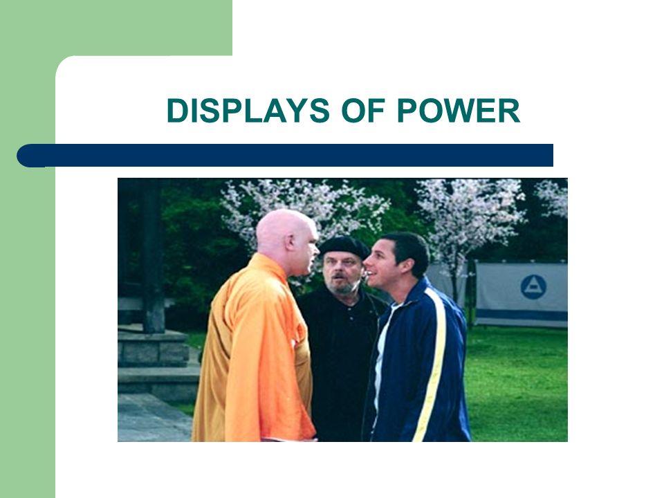 DISPLAYS OF POWER