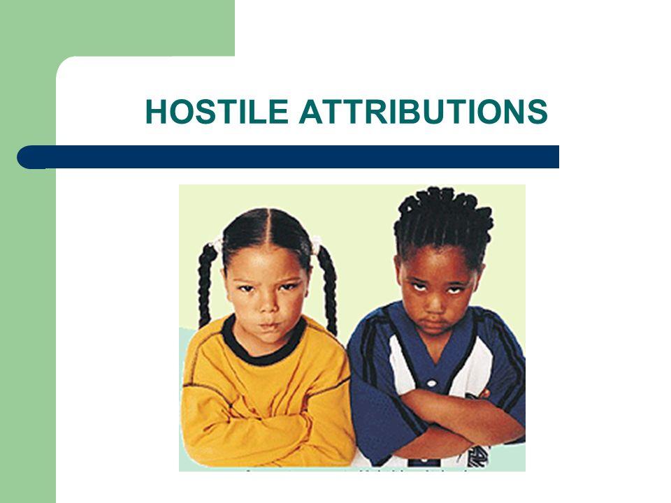 HOSTILE ATTRIBUTIONS