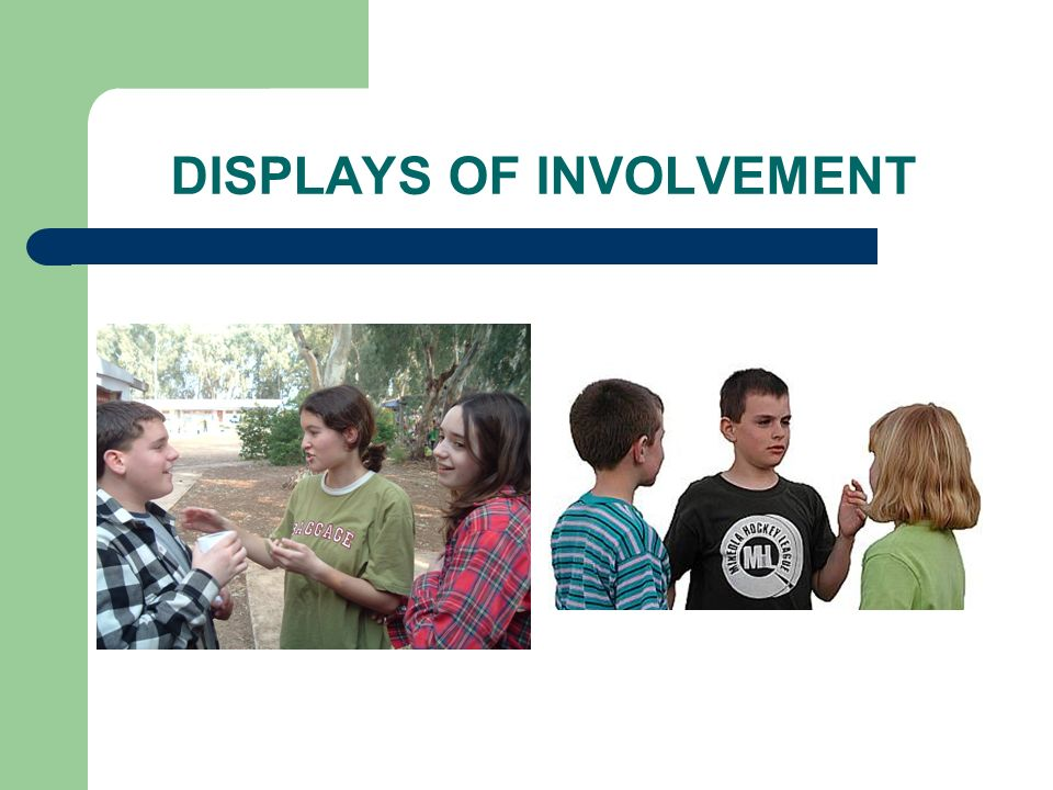 DISPLAYS OF INVOLVEMENT