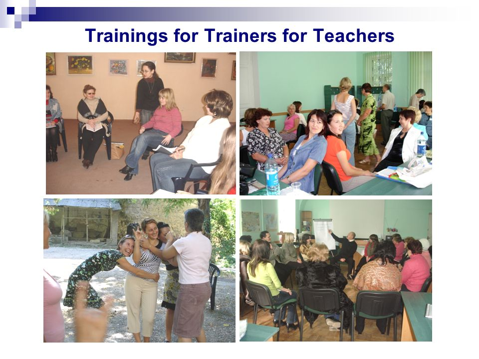 Trainings for Trainers for Teachers