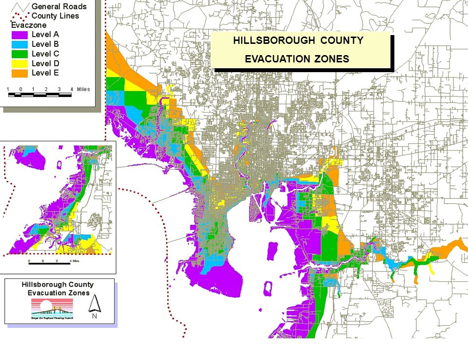 HILLSBOROUGH COUNTY EVACUATION ZONES HILLSBOROUGH COUNTY EVACUATION ZONES