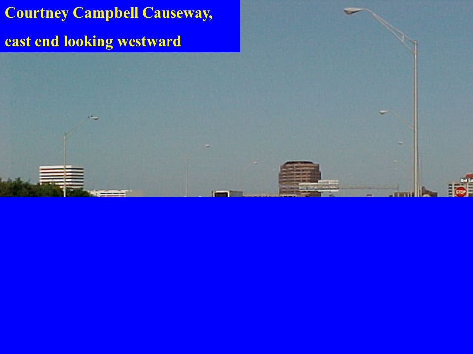 Courtney Campbell Causeway, east end looking westward