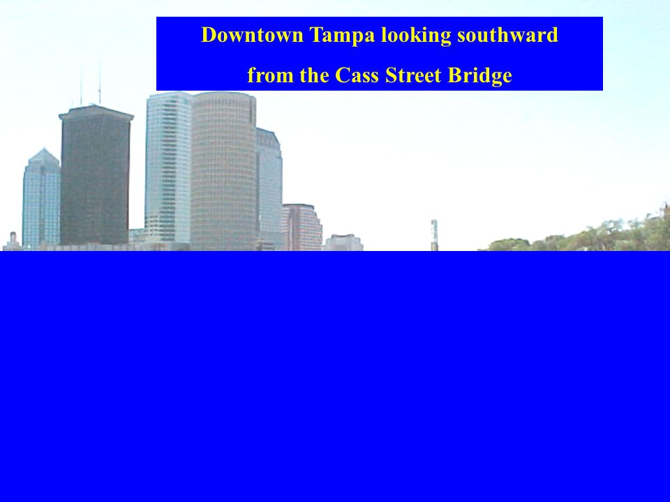 Downtown Tampa looking southward from the Cass Street Bridge