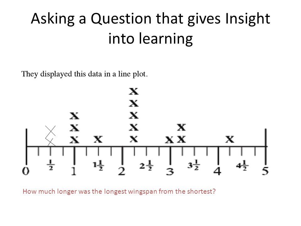 Asking a Question that gives Insight into learning How much longer was the longest wingspan from the shortest