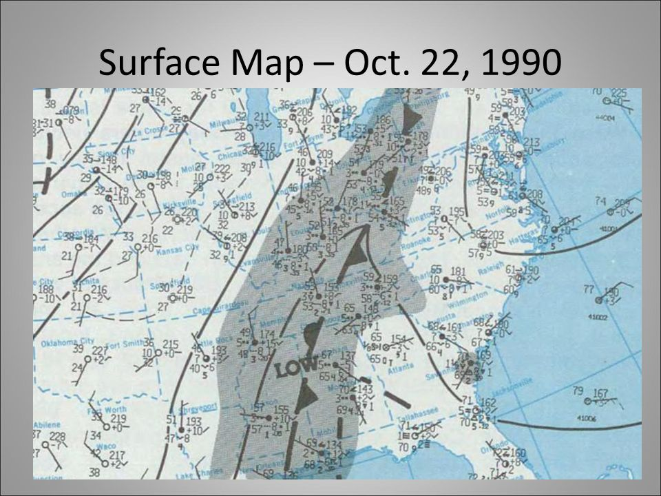 Surface Map – Oct. 22, 1990