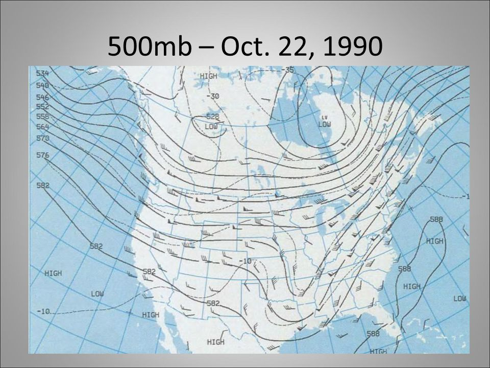 500mb – Oct. 22, 1990