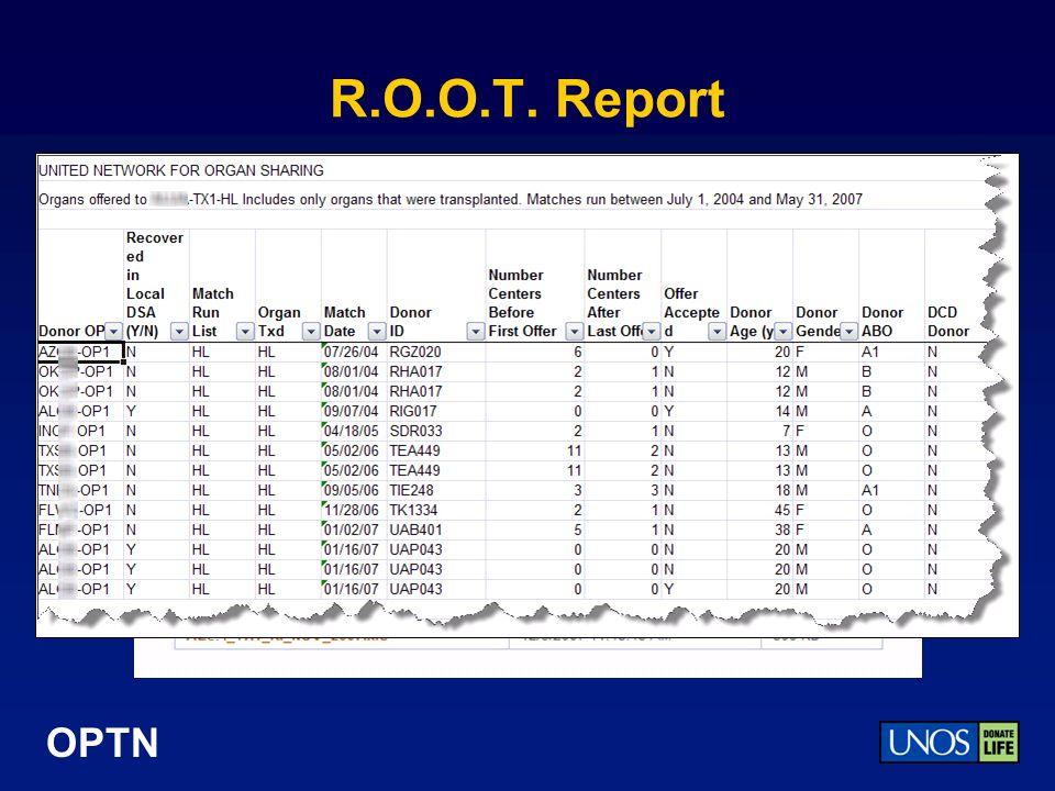 OPTN R.O.O.T. Report