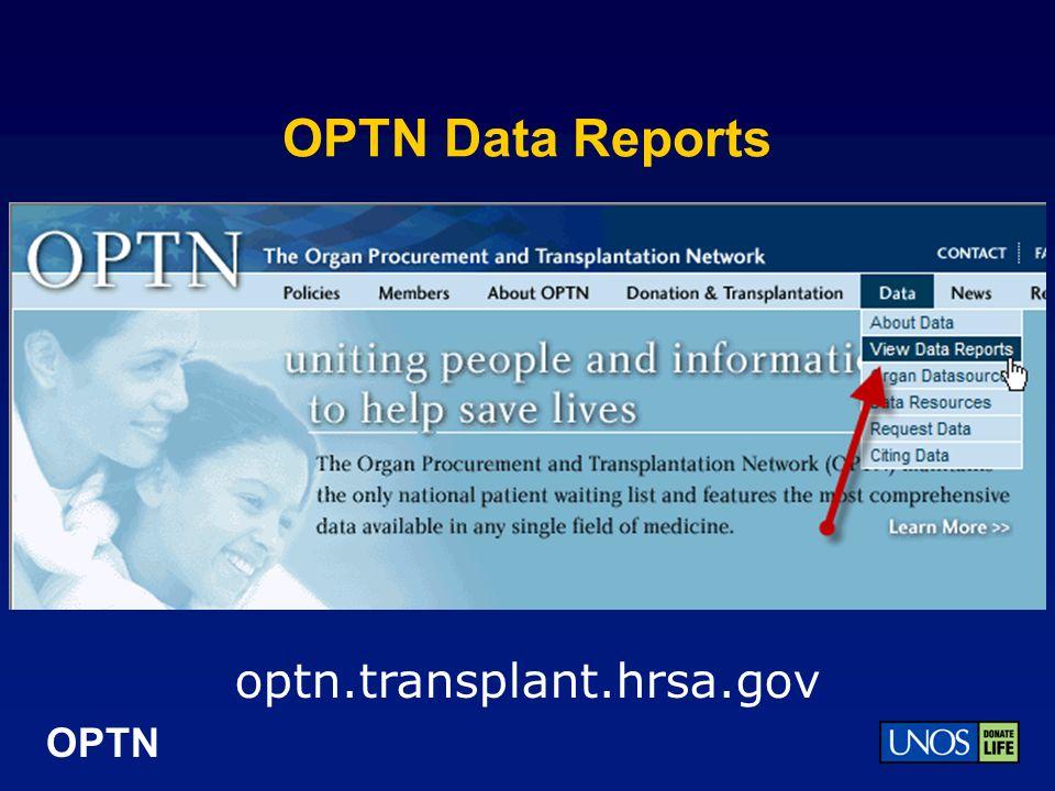 OPTN OPTN Data Reports optn.transplant.hrsa.gov