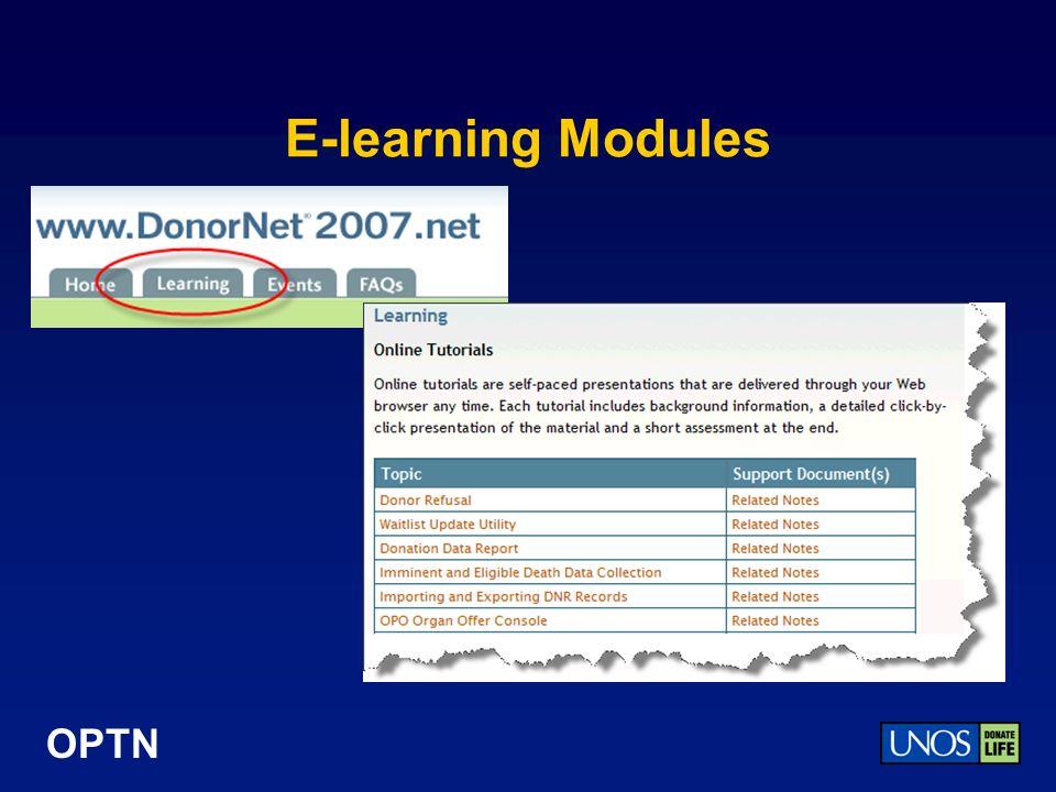 OPTN E-learning Modules