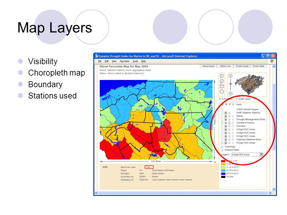Map Layers Visibility Choropleth map Boundary Stations used