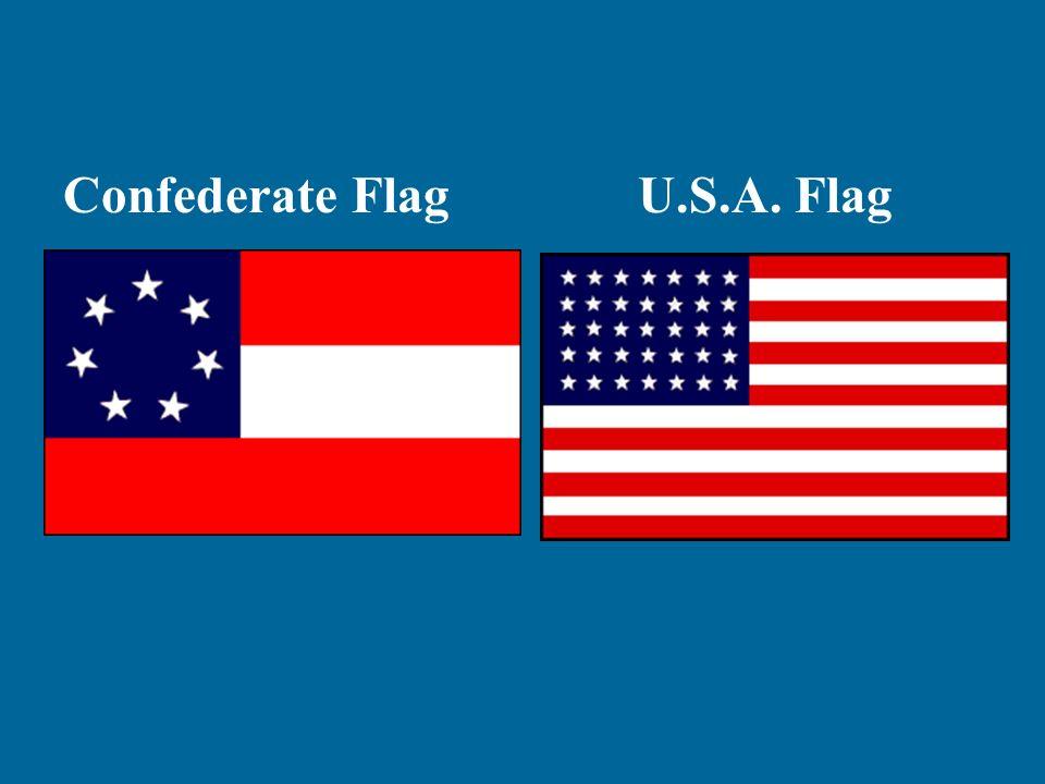 Confederate FlagU.S.A. Flag