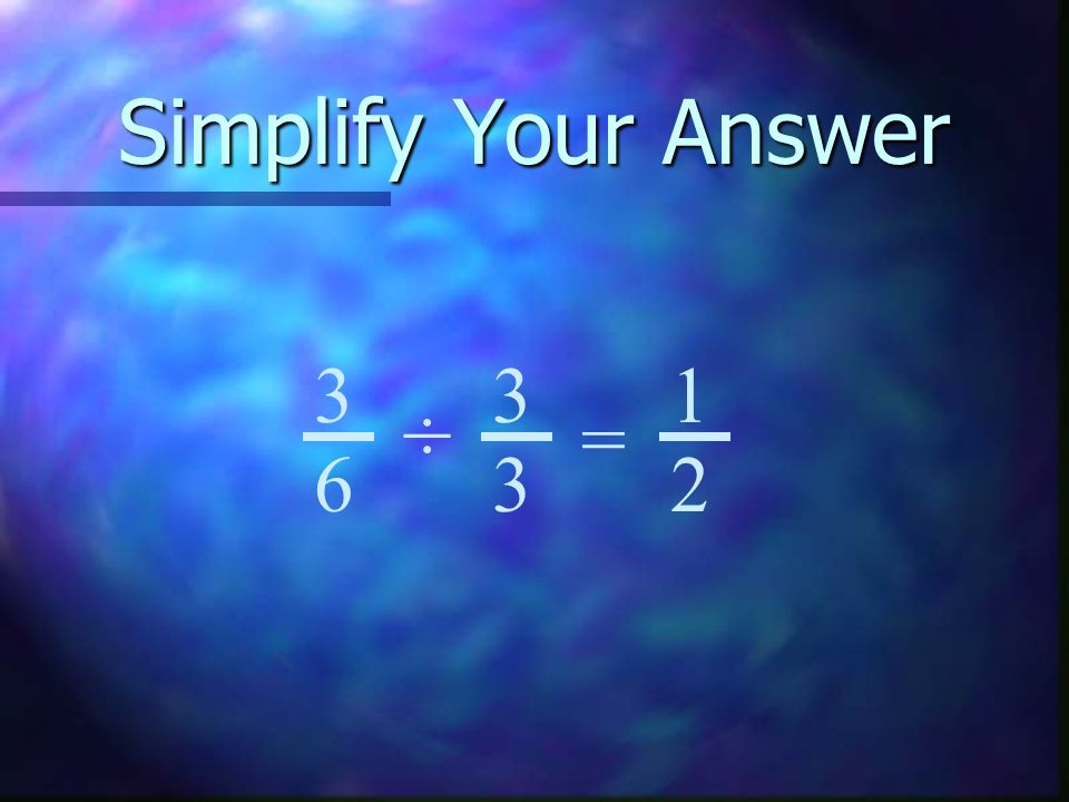 Subtract these fractions 2 6 2 6 4 6 - = 1 6 1 6 1 6 1 6