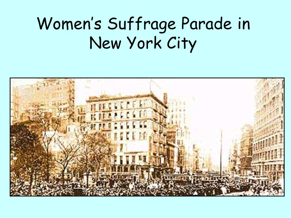 Womens Suffrage Parade in New York City