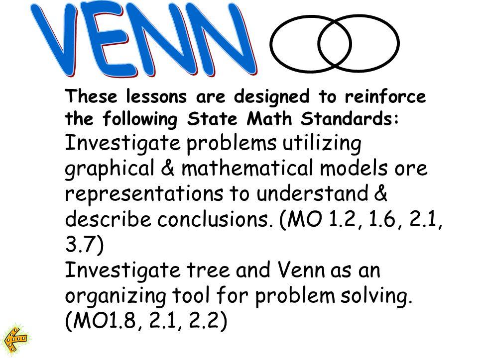 Lets Venn ! Activity #1 Maureen Curran & Mary Lou Aalbers