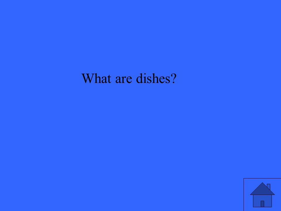 What are dishes
