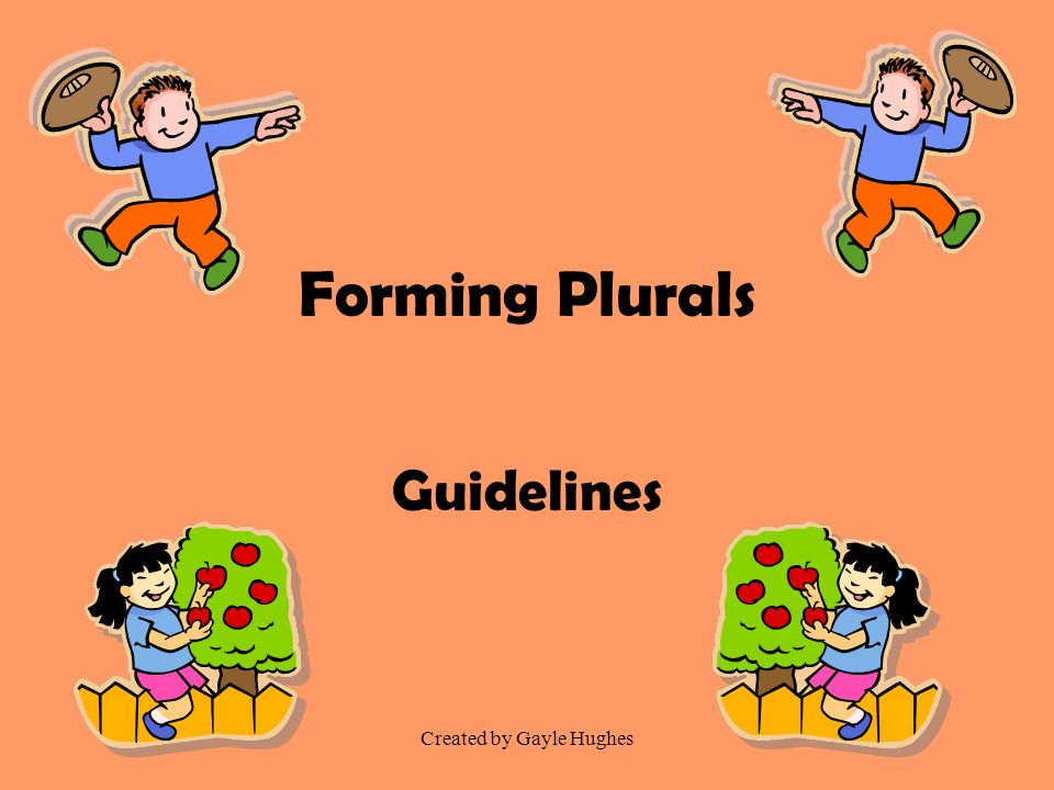 Created by Gayle Hughes Forming Plurals Guidelines