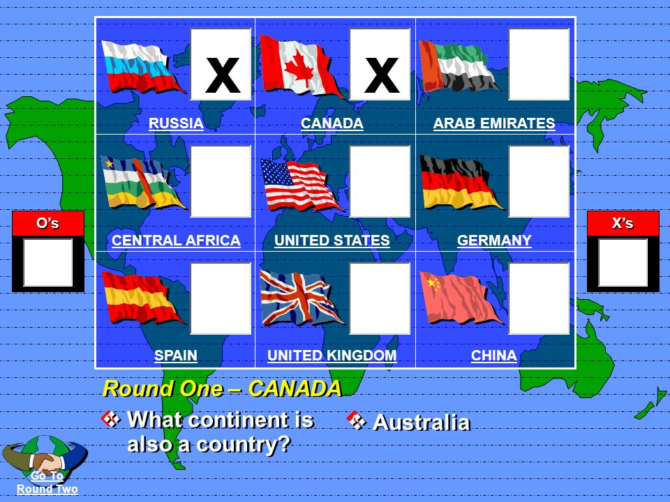 OsXs QA Round One - RUSSIA How many continents are there.