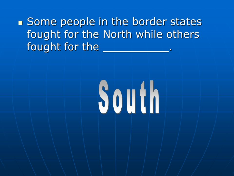 People in the border states remained citizens of the __________ ________ instead of joining the Confederacy.