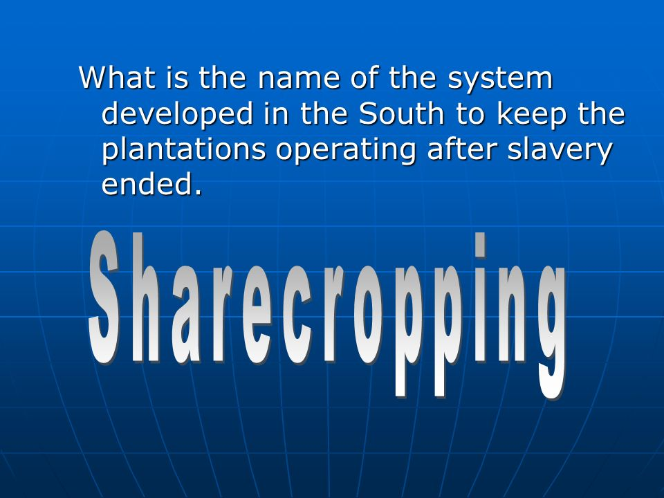 The organization set up to help former slaves was the