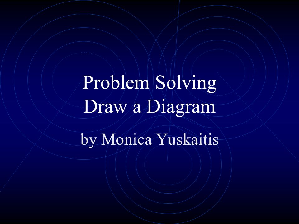 Problem Solving Draw a Diagram by Monica Yuskaitis