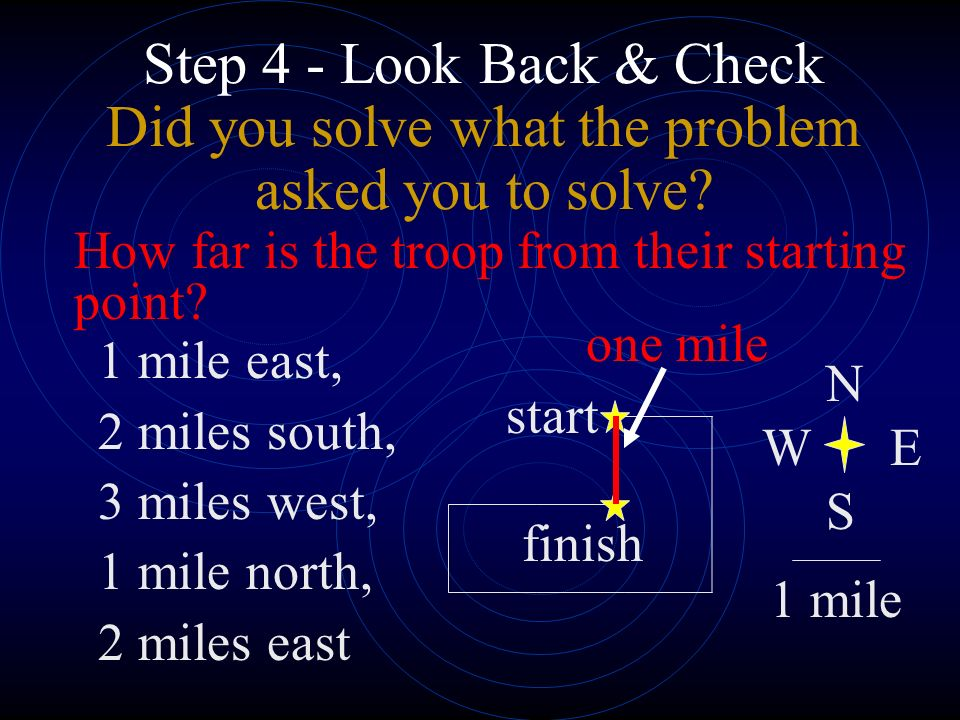 Step 4 - Look Back & Check Did you solve what the problem asked you to solve.