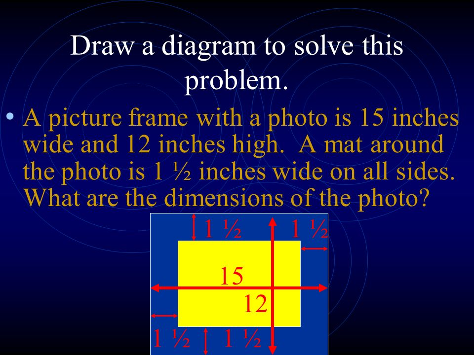 Draw a diagram to solve this problem.