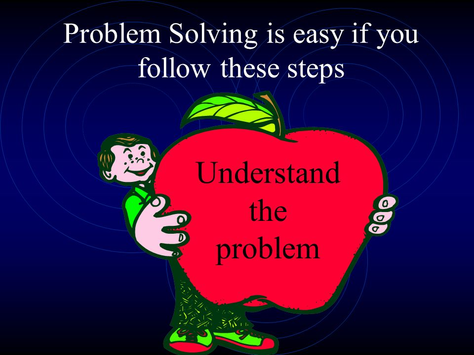 Step 1 – Understand the problem Read the problem carefully.