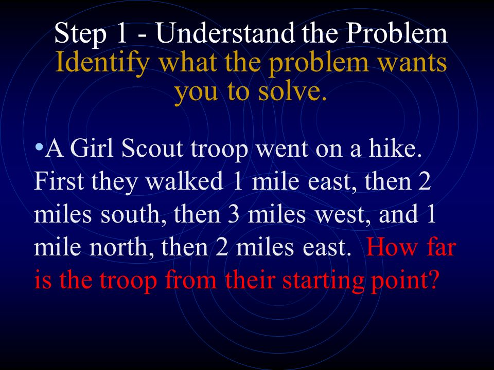 Problem Solving is easy if you follow these steps Decide how youre going to solve the problem
