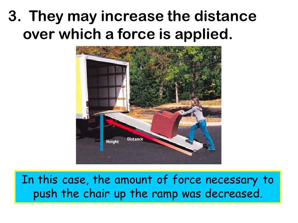 4.They may change the direction a force has to be applied.
