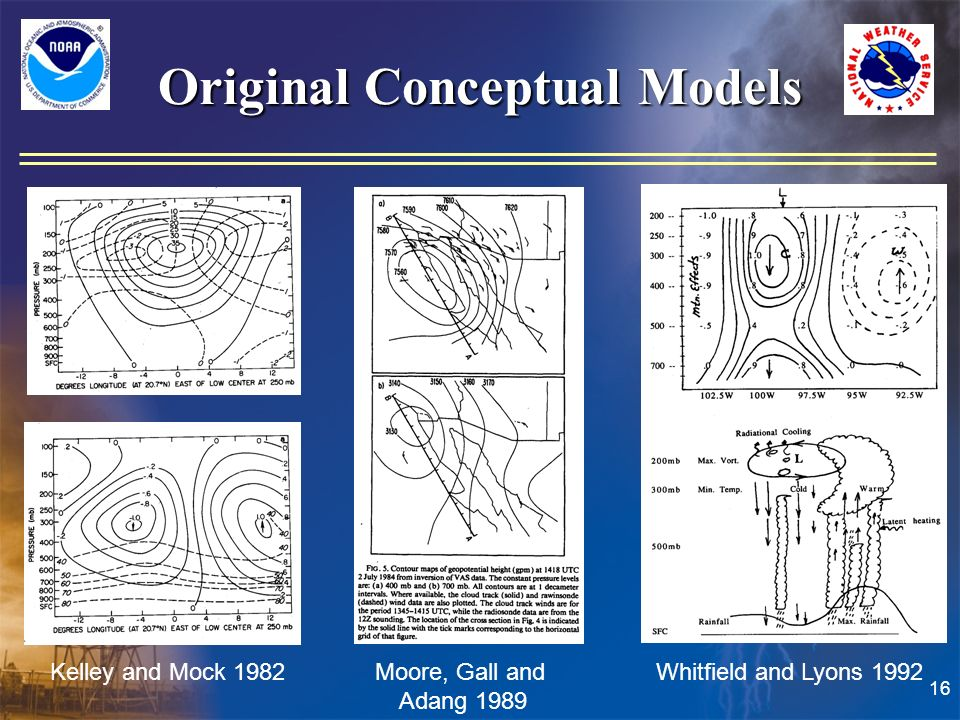 16 Original Conceptual Models Kelley and Mock 1982 Moore, Gall and Adang 1989 Whitfield and Lyons 1992