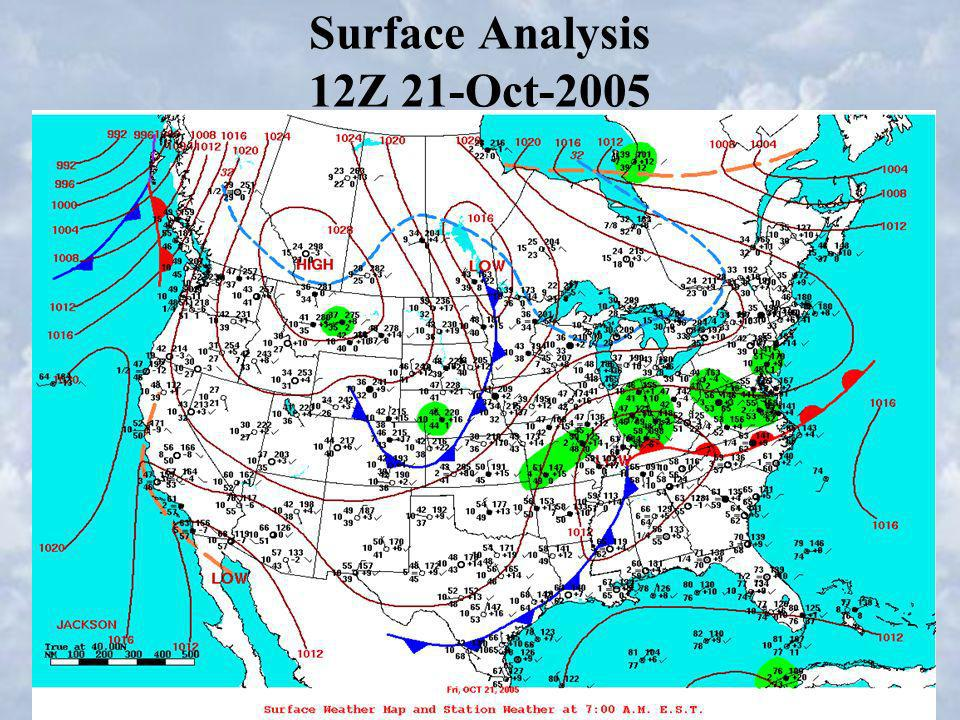 Surface Analysis 12Z 21-Oct-2005
