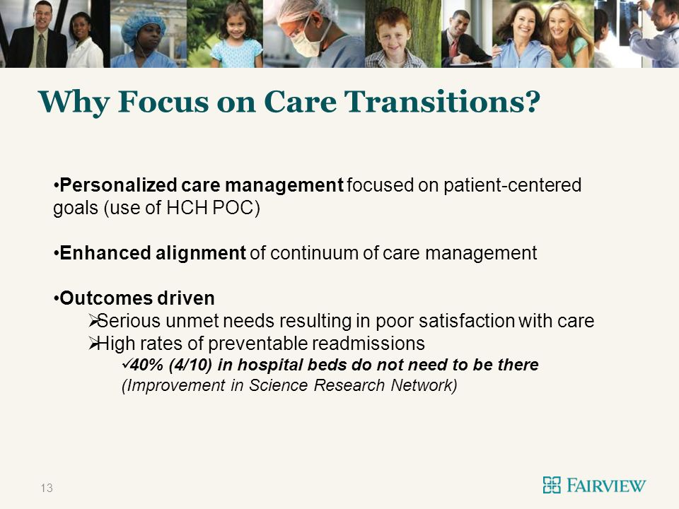 TITLE ONLY Why Focus on Care Transitions.