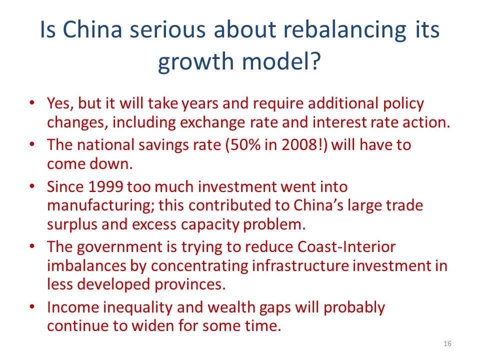Is China serious about rebalancing its growth model.