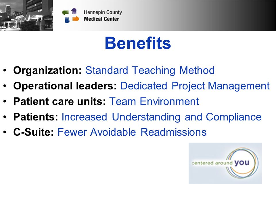 Sustainment Hardwiring New Employee Education Integrated into other education & programs Becoming the culture at HCMC