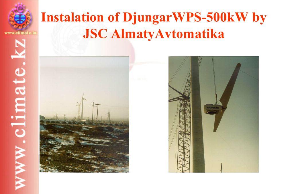 Instalation of DjungarWPS-500kW by JSC AlmatyAvtomatika