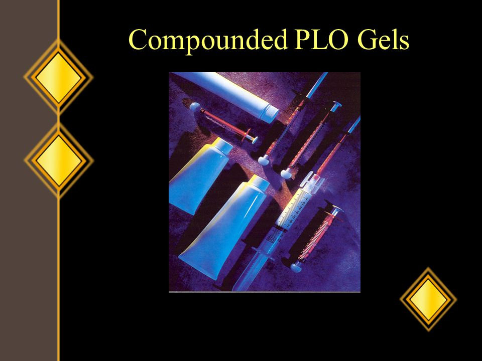 Compounded PLO Gels