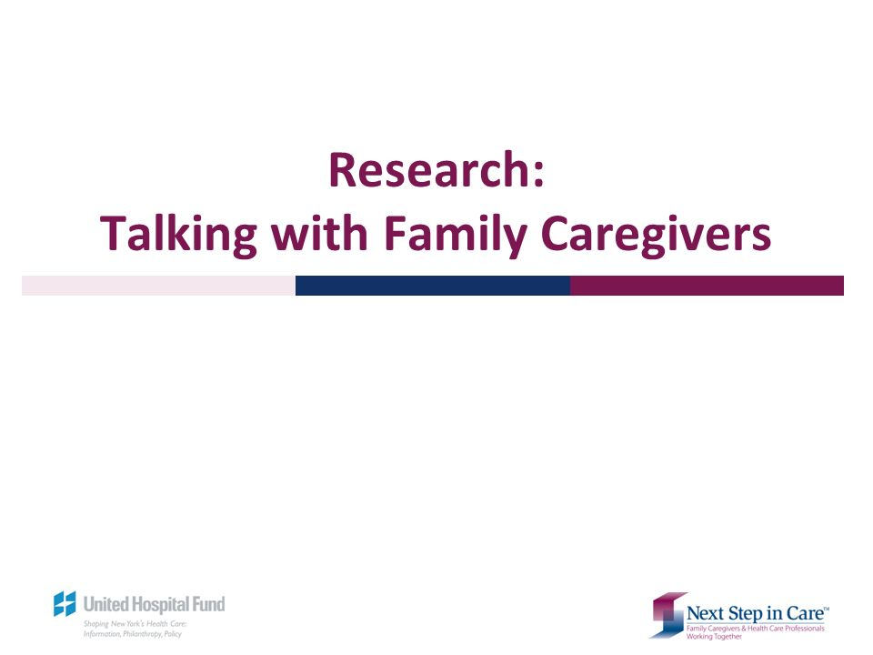 Research: Talking with Family Caregivers