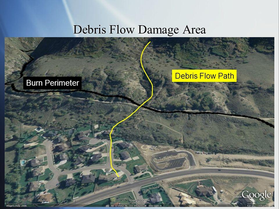 Debris Flow Damage Area Burn Perimeter Debris Flow Path