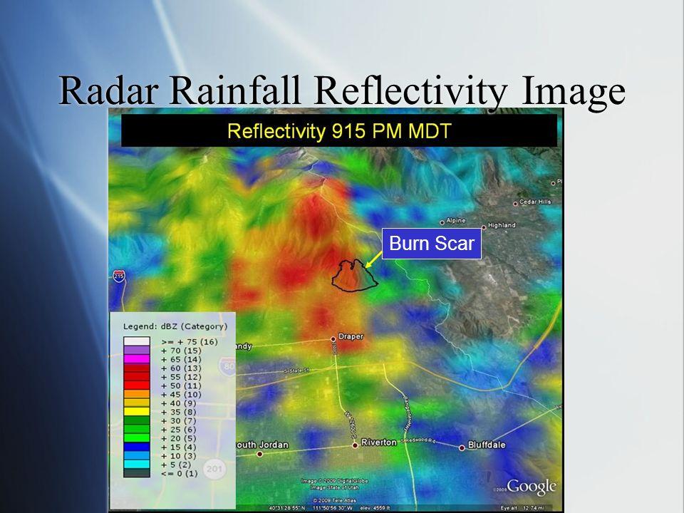 Radar Rainfall Reflectivity Image Burn Scar