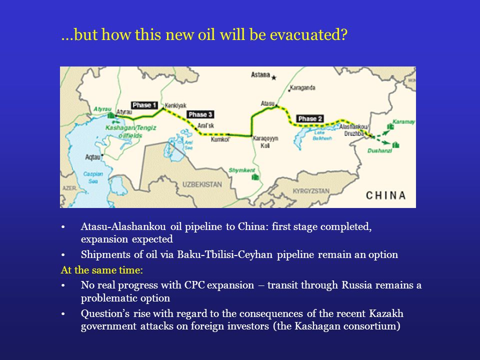 …but how this new oil will be evacuated.
