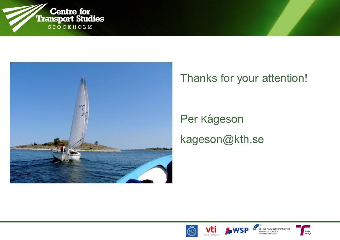 Thanks for your attention! Per K ågeson kageson@kth.se