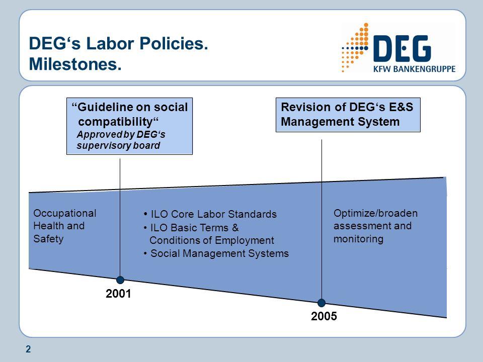 2 DEGs Labor Policies. Milestones.