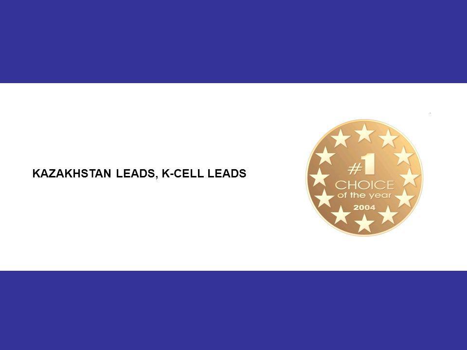 13 KAZAKHSTAN LEADS, K-CELL LEADS